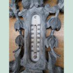 Baromètre-thermomètre bois sculpté fin XIX ème