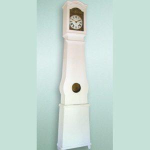 White lacquered grandfather clock