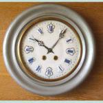 Wall-clock metal silver