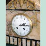 Oriental style ogival marble pendulum clock